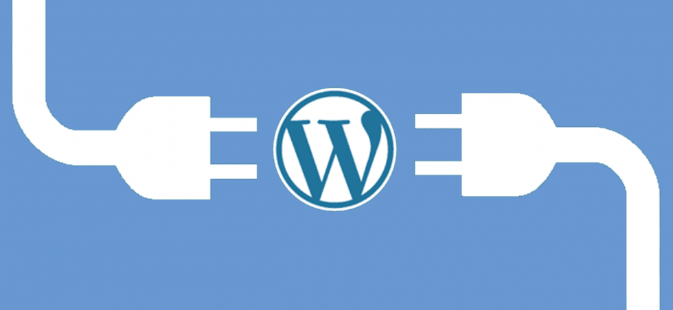 2 power cords about to link in the middle of wordpress logo