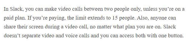 Discord vs Slack voice & video calls