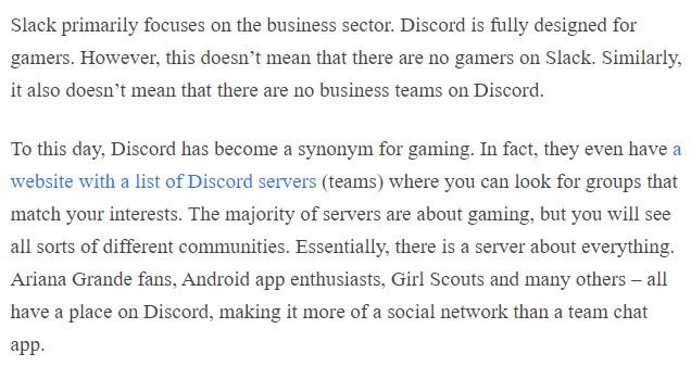 Discord vs. Slack concept slack primarily