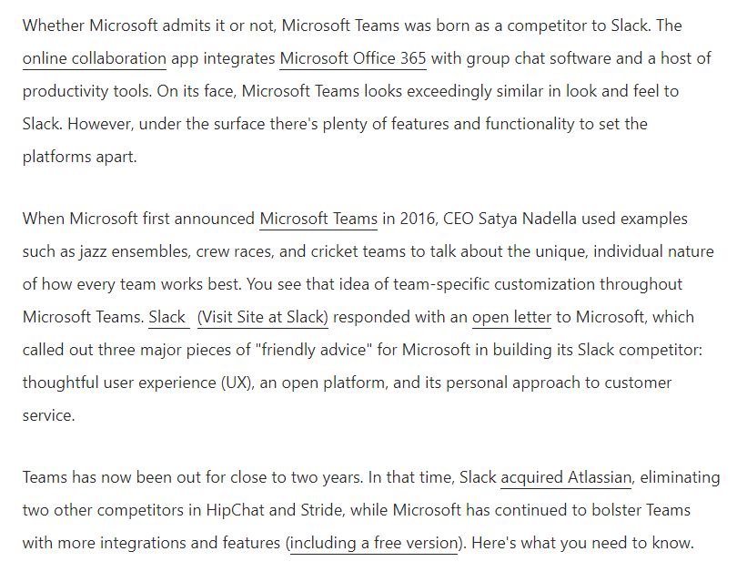 Microsoft Teams vs. Slack What's the Difference