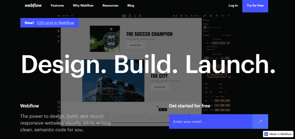 WebFlow site