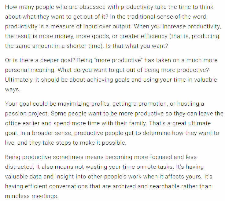 What Are Your Productivity Goals