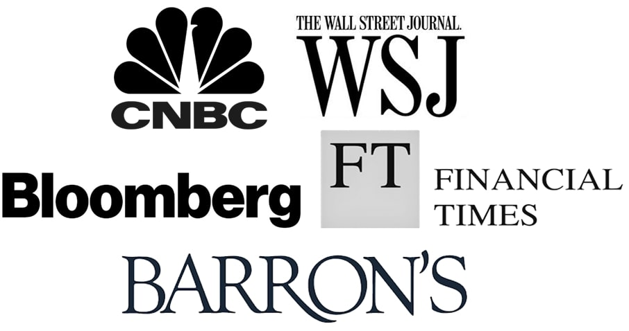 cnbc,wsj,bloomber,FT and Barrons logo