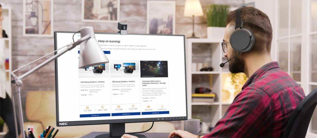 using a webinar software