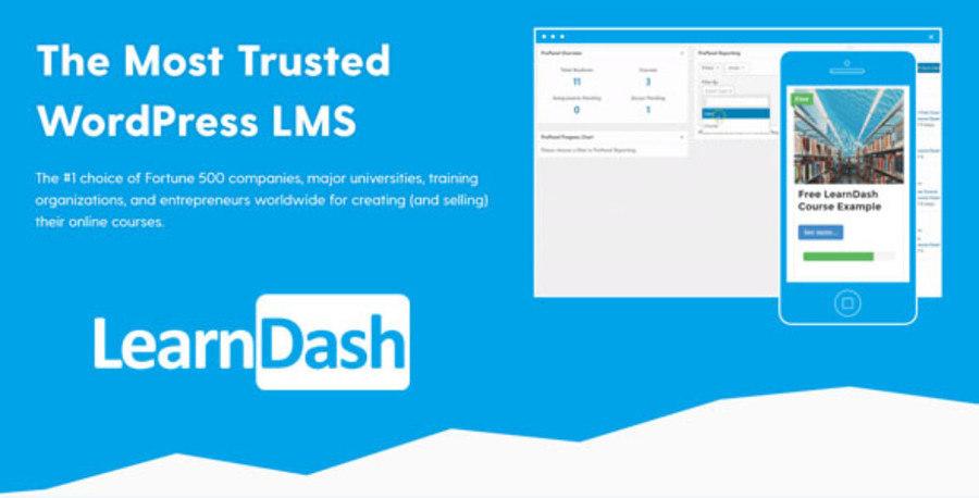 LearnDash Homepage Screenshot
