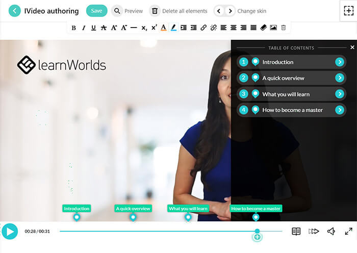LearnWorlds iVideo Authoring