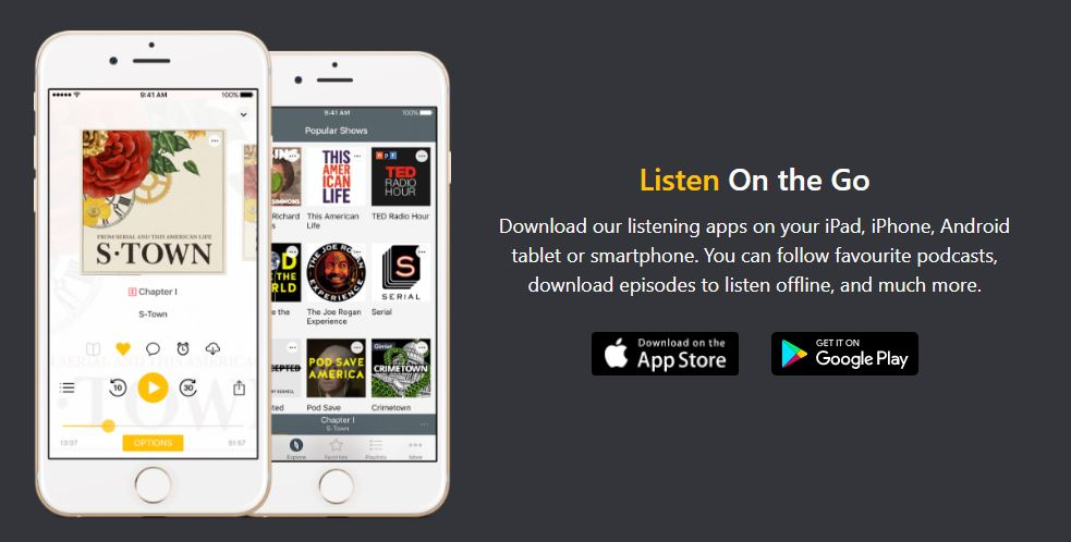 Spreaker for iOs and Android