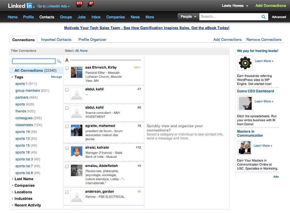Conecting on LinkedIn