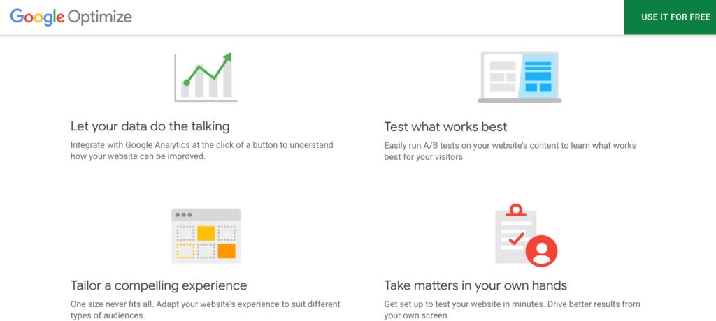 Google Optimize and Analytics