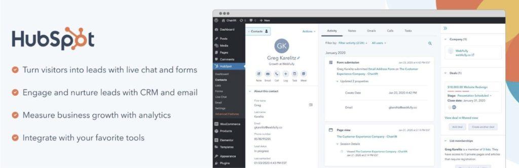 HubSpot Live chat Options