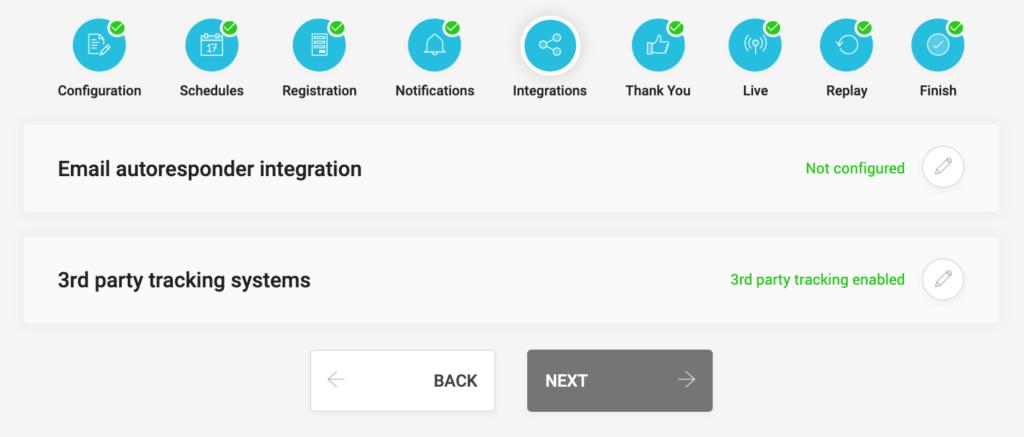 WebinarJam settings