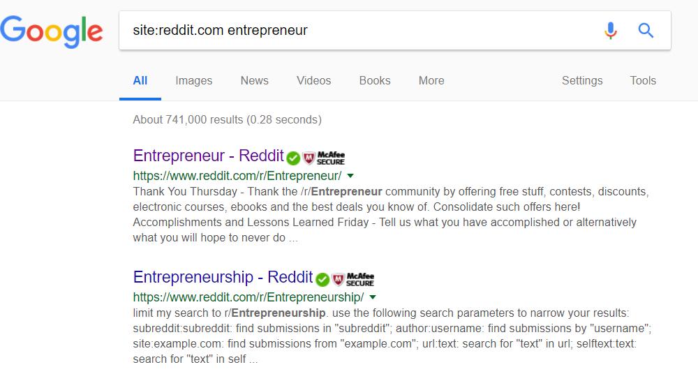 Reddit Entrepreneur